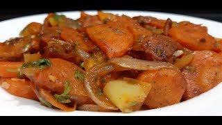 Перец с морковью в томатном соусе Գազարով և պղպեղով նախուտեստ