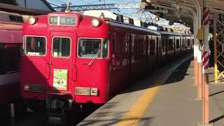 [来年は廃車ラッシュに…]名鉄6000系6029f 笠松駅発車!
