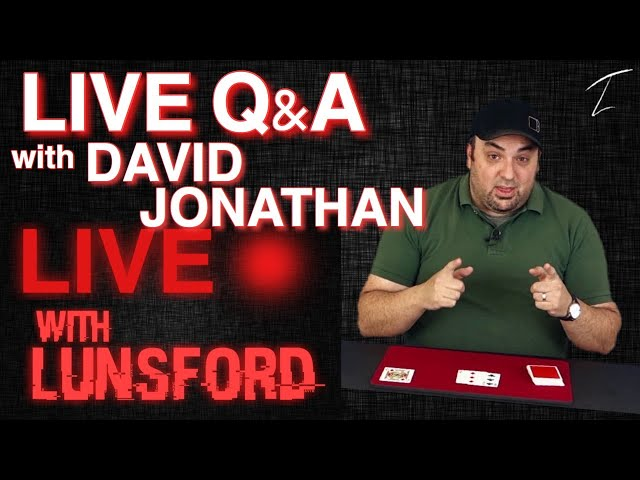 LIVE Q&A with DAVID JONATHAN - LIVE with LUNSFORD (Ep. 2)