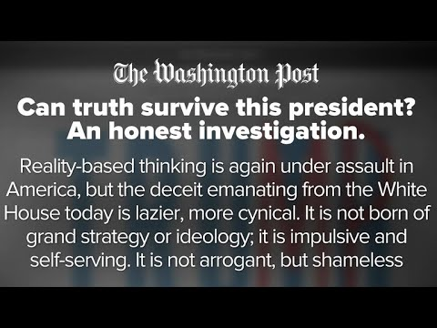 """Can truth survive this president?"" Washington Post article on Trump and ""reality-based thinking"""