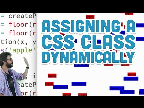 8.13: Assigning a CSS Class Dynamically - p5.js Tutorial