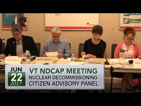 VT Nuclear Decommissioning Citizens Advisory Panel Mtg 6/22/17