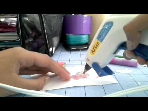 DIY:how to make hotglue resin & cabochons
