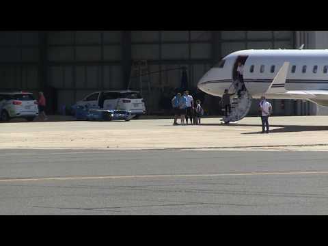 'Roger Federer. Family. Private Jet. Melbourne, Australia. 15MOF