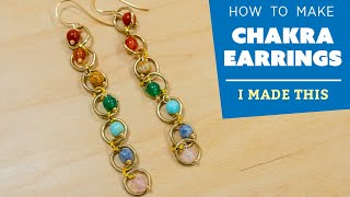 How to Make Chakra Earrings | I Made This