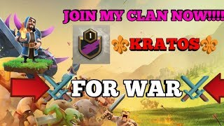 ⚔️☠️Join my clan before clan battle starts☠️⚔️