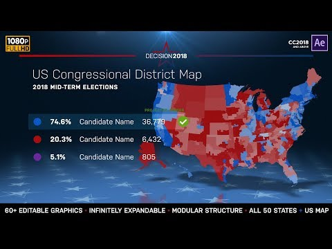 State Midterm Election Map | Congressional Districts