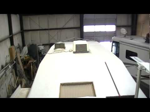 Travel Trailer Camper Rv Damaged Roof Replacement Doovi