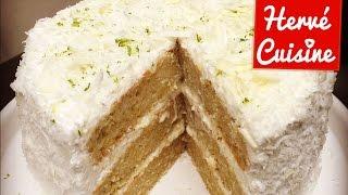 Recette gâteau layer cake coco citron vert et chocolat blanc sans oeufs