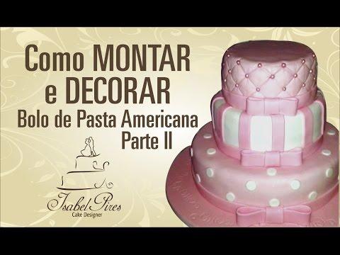 Decorando bolo de Andares cobertura Pasta Americana parteII_Bellbolos