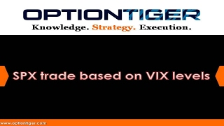 FREE Options and Trading Video: SPX Trade Based on VIX Levels