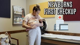 NEWBORNS FIRST DOCTOR VISIT | DAY IN THE LIFE WITH A NEWBORN | Tara Henderson
