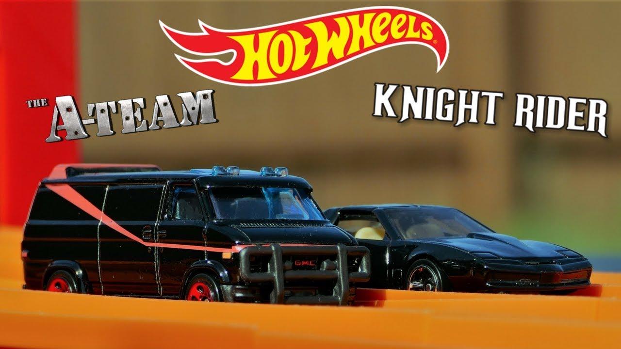 hot wheels knight rider kitt vs the a team van fun race youtube. Black Bedroom Furniture Sets. Home Design Ideas