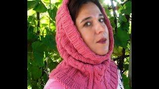 Вязание женского капора с