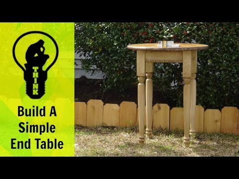 How to build a end table - A simple woodworking project
