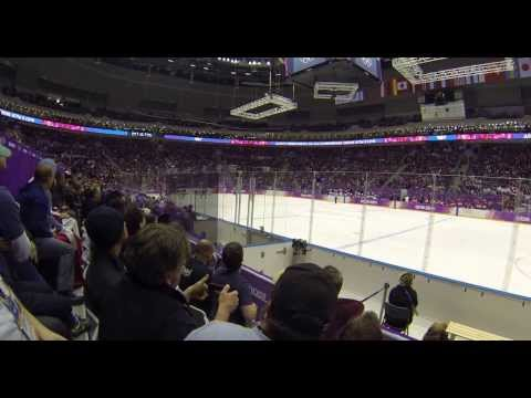 Empty Net Post - USA v Canada Women's Hockey Gold Medal