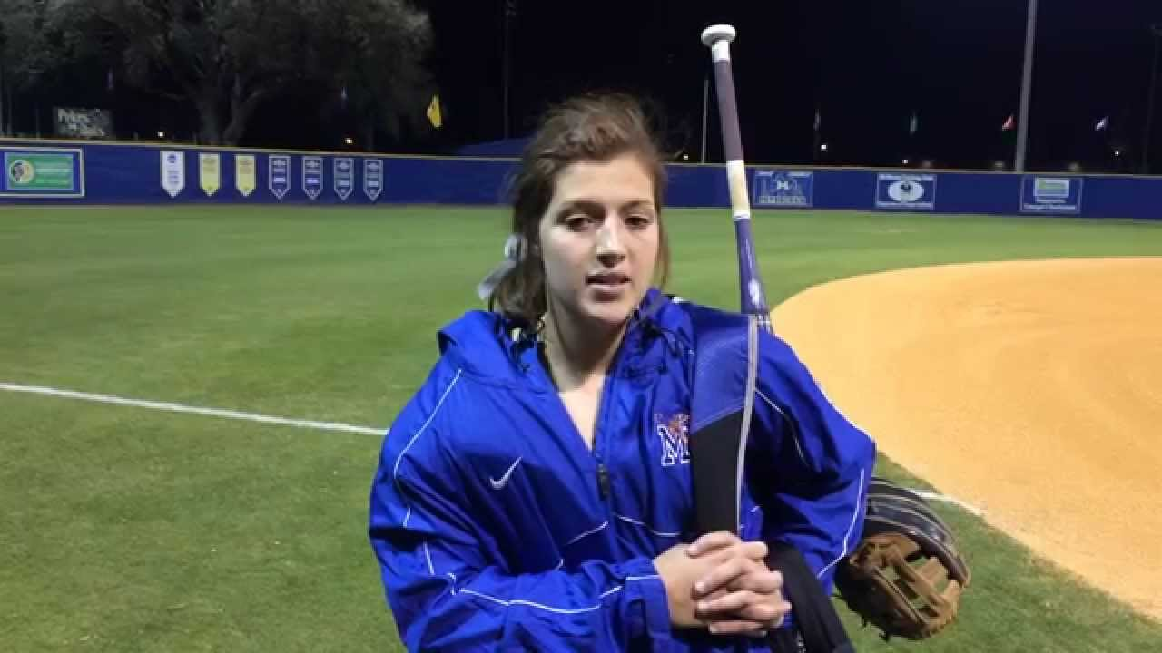 Memphis Softball v McNeese State Postgame - Brooke Lee ...