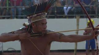 Pueblos indígenas compiten en sus Juegos mundiales en Brasil