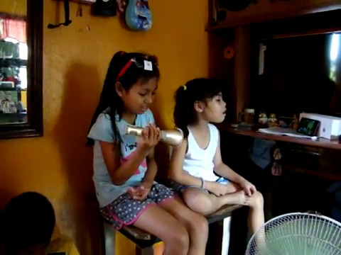 Gabby Tuscano & Cristel Tibug (Diday) doing their own version of karaoke