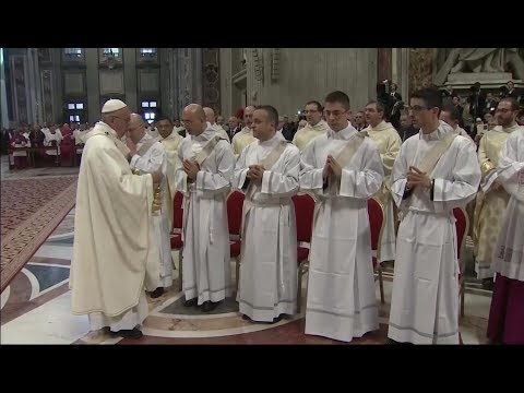 Pope Francis to ordain 16 priests on Sunday