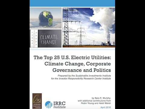 Webinar | Top 25 U S  Electric Utilities  Climate Change, Co
