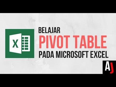 Cara Menggunakan PIVOT TABLE pada Excel