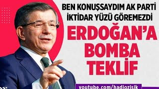 AHMET DAVUTOĞLU'NDAN CUMHURBAŞKANI'NA BOMBA TEKLİF!