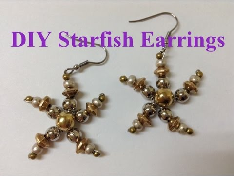 Beaded Beach Starfish Earrings DIY Tutorial