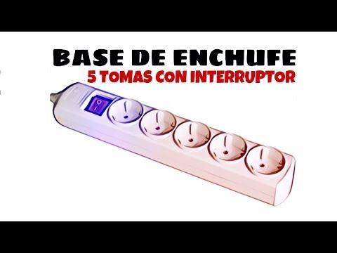 Video de Base de enchufe 5 tomas con interruptor  Blanco