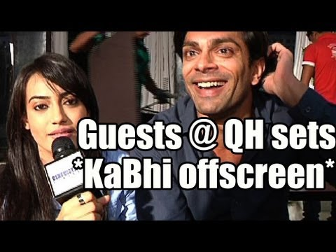 new guest at the sets of qubool hai - offscreen