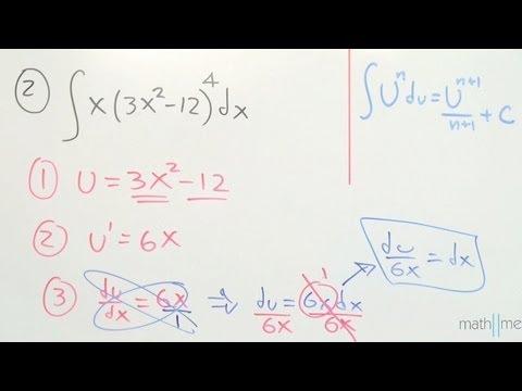 Integración por sustitución │ ejercicio 1 y 2