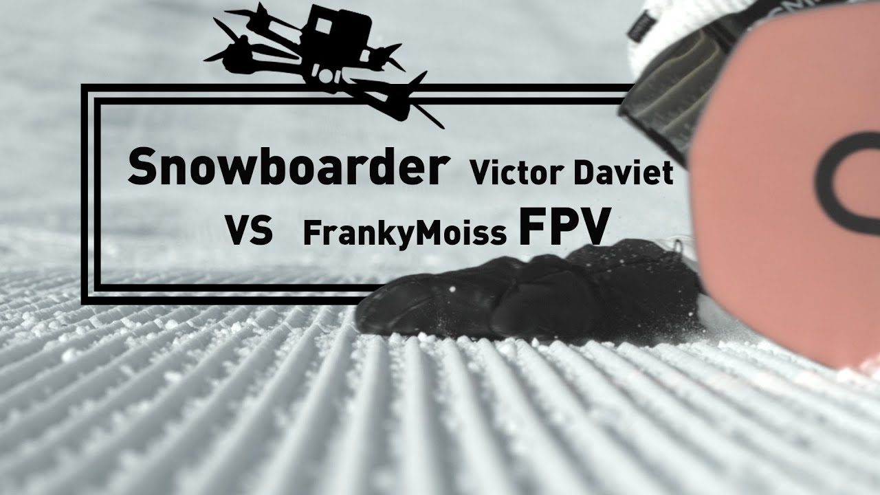 Download Snowboarder VS FPV @ Gstaad Glacier 3000