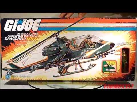 1983 Dragonfly XH-1 & Wild Bill G.I. Joe review