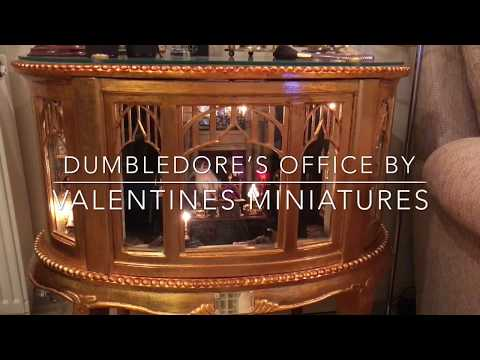 A closer look at my Dumbledore's Office cabinet by Valentines Miniatures