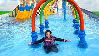 شفا تحدي في مدينة الالعاب المائية ! Fun day at pool playground