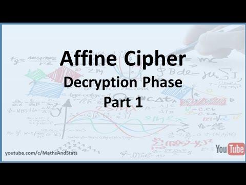 Affine Cipher Decryption Phase - Part 1