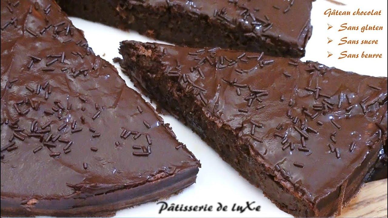 Gâteau au chocolat, sans gluten, sans beurre et sans sucre ...