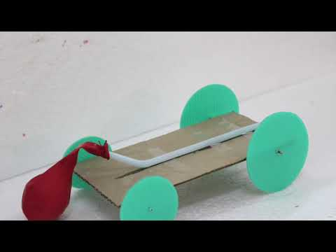 Balloon powered car... Very simple projects for kids
