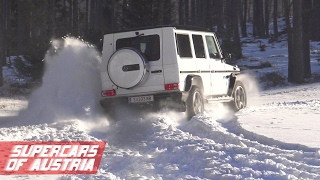 Mercedes G Class - Fun in the Snow