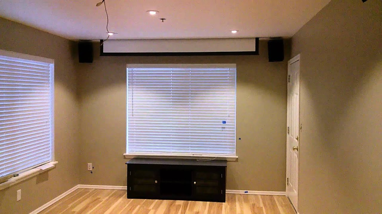 how to install projector screen from ceiling ...
