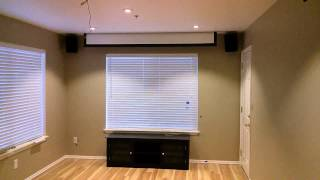 """New 106"""" ceiling mount motorized projection screen - Monoprice.com"""