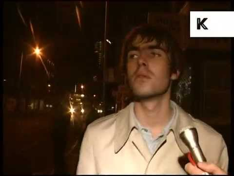 1990s Liam Gallagher Drunk Interview, Archive Footage