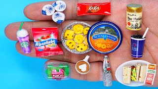 11 DIY MINIATURE FOOD AND SWEETS HACKS AND CRAFTS !!!!