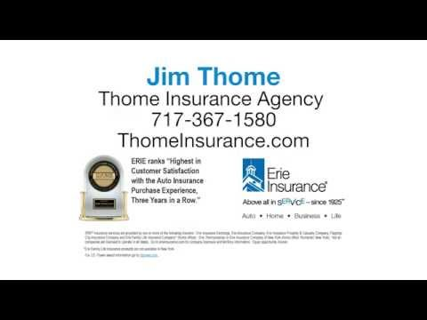 No Regrets Insuring Your Auto With Erie Insurance and Thome Insurance