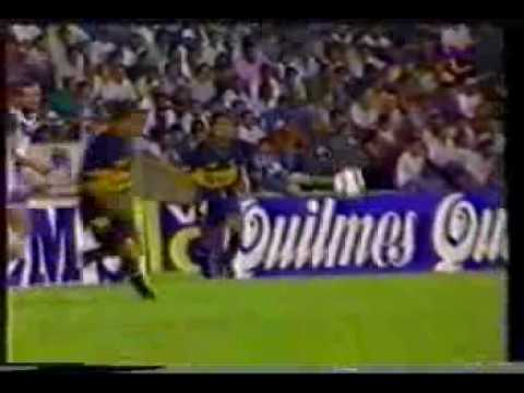Gol de Martinez a Velez (Boca 1-Velez 0 21-01-95)