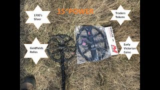 """First field test of the Minelab Equinox 15"""" Coil which included som..."""