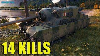 14 фрагов на ТОРТЕ ✅ World of Tanks Tortoise самый лучший бой