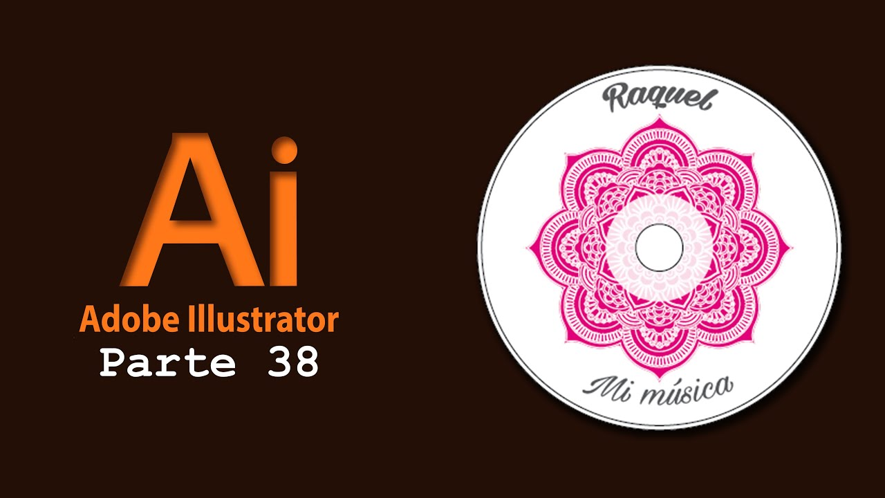 Adobe Illustrator 38) Crear carátula CD - YouTube