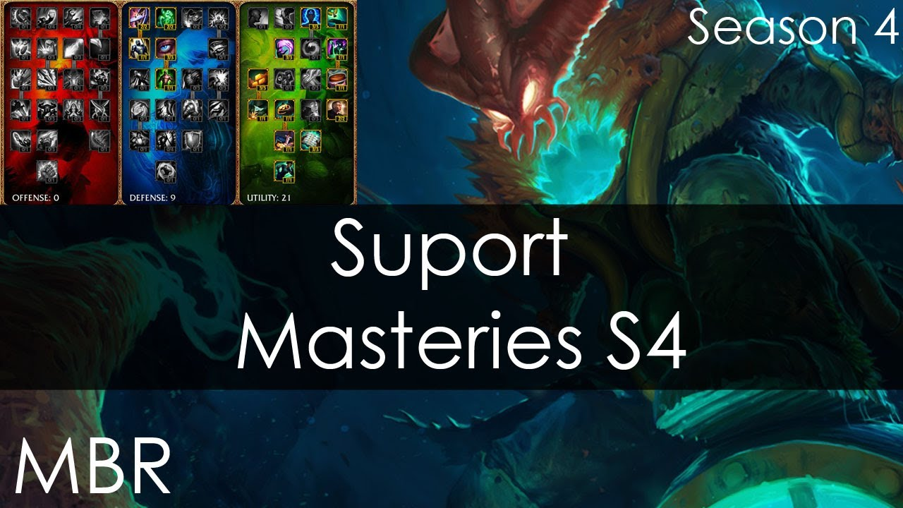 League of Legends - New Masteries Season 4 Support / Sona ...