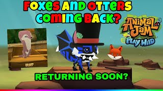 Image of: Snow Leopard Foxes And Otters Returning To Animal Jam Play Wild Soon Viyoutube Rainbowlemur Aj Viyoutubecom